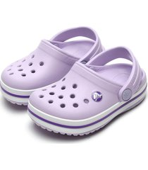 babuche crocs menina crocband clog k roxo - tricae