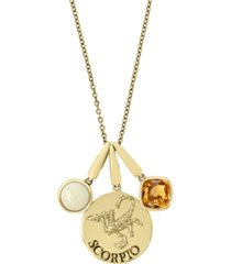 effy zodiac multi-gemstone (1 1/5 ct. t.w.) scorpio pendant in 14k yellow gold