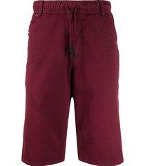 diesel joggjeans slim fit shorts - red