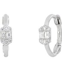 women's bony levy gatsby hexagon diamond cluster huggie hoop earrings (nordstrom exclusive)