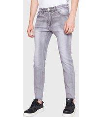 jeans ellus skinny tiro bajo gris - calce skinny