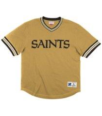 mitchell & ness new orleans saints men's huddle up t-shirt
