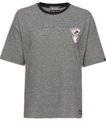 military narrative boxy tee t-shirts & tops short-sleeved grå superdry