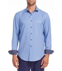 tallia men's slim fit performance stretch texture long sleeve shirt and free face mask with purchase