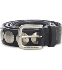 golden goose belt trinidad washed leather studs