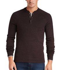 joseph abboud cabernet henley sweater