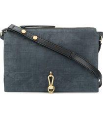 allsaints suede shoulder bag - blue