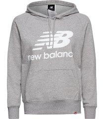 essentials pullover hoodie hoodie trui grijs new balance
