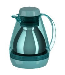 bule térmico com gatilho retro 700ml azul baltic transparente cozy coza 17 x 14,5 x 20,5 cm azul baltic coza