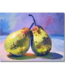 "david lloyd glover 'a pair of pears' canvas art - 32"" x 24"""