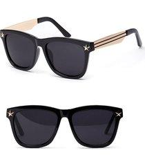 classic square sunglasses men designer luxury frame reflective coating mirror st