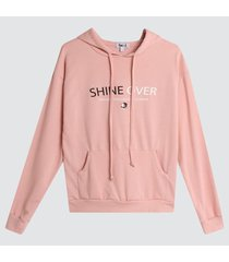 buzo hoodie shine over