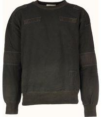ambush woven sweatshirt patchwork
