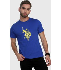 camiseta azul royal-amarillo us polo assn