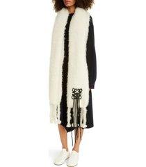 women's loewe anagram mohair & wool scarf
