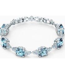 braccialetto sparkling, turchese, placcato rodio