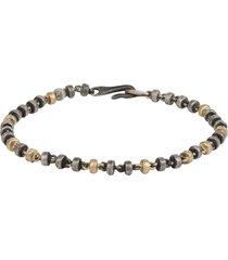 18k gold & silver omni bead bracelet
