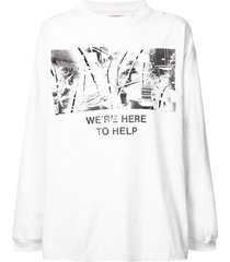 424 oversized sweatshirt - white