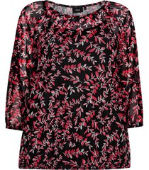 topp xlima 3/4 mesh blouse
