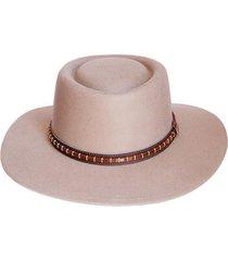 sombrero fieltro ecuestre beige viva felicia