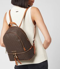 michael michael kors women's rhea zip medium backpack - brown