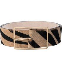 b-low the belt milla zebra print belt - brown