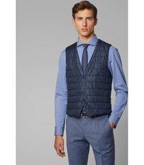 chaqueta slim fit azul sin mangas boss