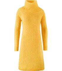 abito in maglia svasato con martingala (giallo) - bpc bonprix collection