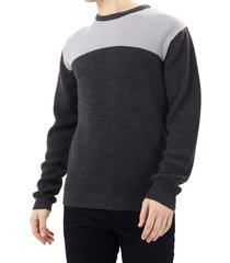 sweater brave soul gris - calce regular