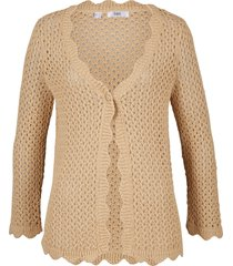 cardigan con maniche a 3/4 (marrone) - bpc bonprix collection