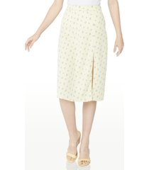 bcbgeneration printed satin woven skirt