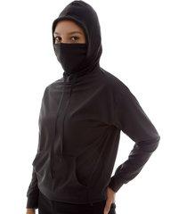 buzo proteccion facial mujer color negro, talla m