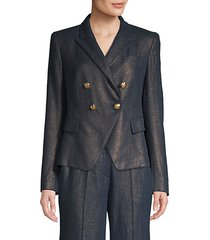 jezebel metallic linen double-breasted blazer