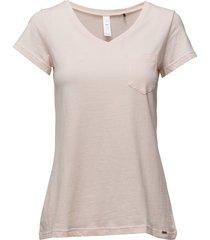 l. shirt s/slv top rosa skiny