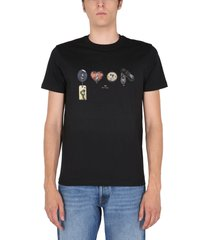 ps by paul smith keyholes print t-shirt