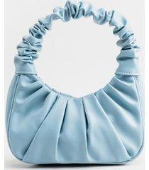 audrey scrunched strap handbag - blue