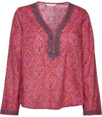 isabelle blouse blouse lange mouwen roze odd molly