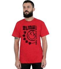 camiseta 182life blink one eighty two vermelha - azul/incolor/vermelho - dafiti