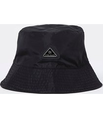 river island mens black nylon bucket hat