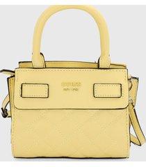 bolso amarillo claro guess