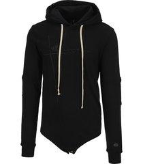 rick owens x champion hooded bodysuit