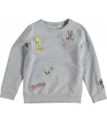 name it grijze sweater met looney tunes badges