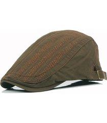 cappello a visiera in avanti da uomo casual in cotone con ricamo a berretto in cotone tinta unita