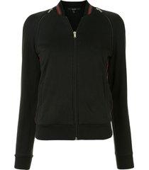 gucci pre-owned zipped slim-fit sweatshirt - black