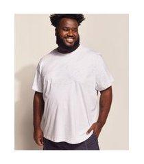 camiseta masculina plus size birden costela de adão manga curta gola careca off white