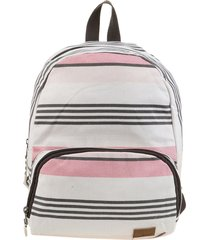 mochila blanca roxy always core canvas