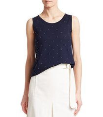 studded wool top