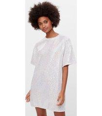 t-shirtdress jurk met glitter