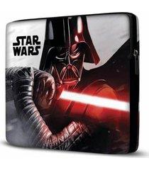 capa para notebook isoprene star wars 15 polegadas com bolso - unissex