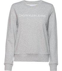 institutional core l sweat-shirt trui grijs calvin klein jeans